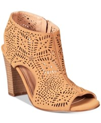 Xoxo Betta Lasercut Slingback Sandals Women's Shoes Tan