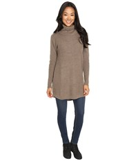 Woolrich Clapshaw Cowl Tunic Heddle Heather Women's Sweater Tan