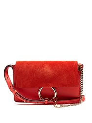 Chloe Faye Small Suede Cross Body Bag Red