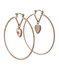 Bcbgeneration Queen Of Hearts Clear Crystal Hoop Earrings Gold