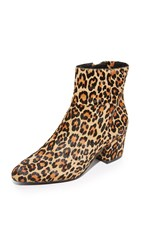 Steven Wes Haircalf Booties Leopard