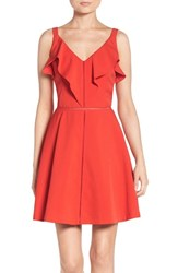 Adelyn Rae Women's Fit And Flare Dress Red