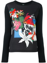 Paul Smith Ps By Flowers Print Jumper Black