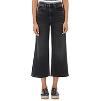 Denim X Alexander Wang Women's Drill Wide Leg Jeans Grey