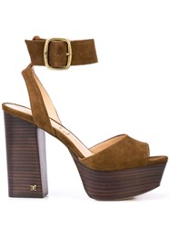 Sam Edelman Rain Platform Sandals Brown