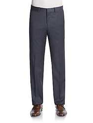 Theory Tick Weave Wool Blend Trousers