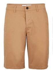 Topman Brown Tan Stretch Slim Shorts