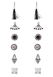 Aldo Olirawen 6 Pack Earrings Black Silvercoloured