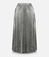 Christopher Kane Lurex Pleated Skirt With Hotfix Metallic