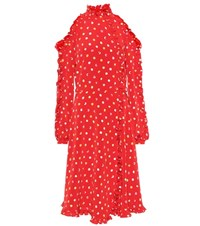 Anna October Polka Dotted Dress Red