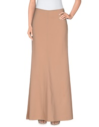 Patrizia Pepe Long Skirts Beige