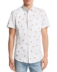 Sovereign Code Pismo Pizza And Beer Button Down Shirt 100 Exclusive Open White