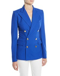 Ralph Lauren Camden Double Breasted Cashmere Jacket Royal