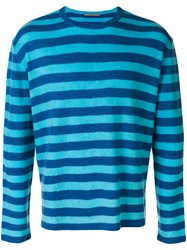 Ermanno Scervino Striped Style Sweater Blue