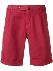 Incotex Classic Chino Shorts Red