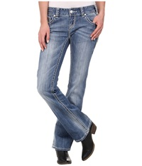 Rock And Roll Cowgirl Low Rise Bootcut In Light Vintage W0 2447 Light Vintage Women's Jeans Blue