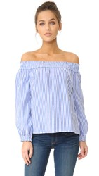 Rag And Bone Striped Drew Top Blue White Stripe