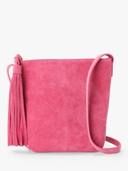 And Or Mena Suede Cross Body Bag Pink