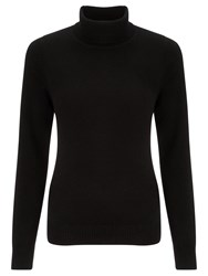 John Lewis Cashmere Roll Neck Jumper Black