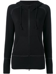 Y 3 Two Way Zip Hoodie Women Cotton S Black