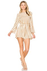 Faithfull The Brand Thompson Playsuit Tan