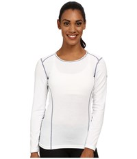 Hot Chillys Mtf 4000 Scoop Top White Long Sleeve Pullover