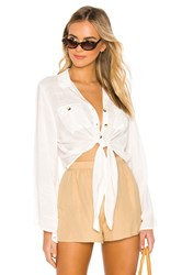 Amuse Society Hammock Button Up Top White
