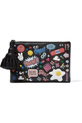 Anya Hindmarch Georgina All Over Stickers Leather Clutch