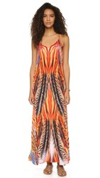Lotta Stensson Feather Burst Maxi Pocket Dress