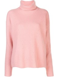 Sally Lapointe Silk Ribbed Turtle Neck Jumper 60