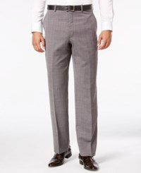 Shaquille O'neal Collection Men's Black And White Pindot Big And Tall Classic Fit Pants