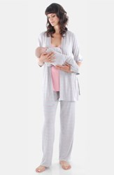 Everly Grey Roxanne During And After 5 Piece Maternity Sleepwear Set Rose Bud