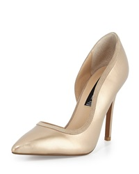 Steven By Steve Madden Whiiskey Two Tone D'orsay Pump Metallic Gold
