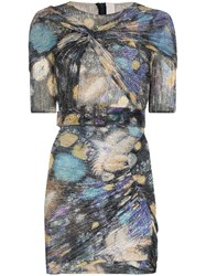 Peter Pilotto Fireworks Print Ruched Mini Dress 60