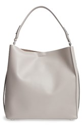 Allsaints 'Paradise North South' Calfskin Leather Tote Grey Light Cement Grey