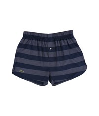 Lacoste Authentics Wide Bar Stripe Single Woven Boxers New Navy Men's Underwear