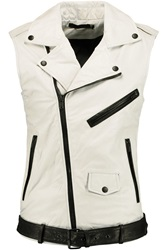 Blk Dnm Vest 12 Leather Vest