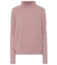 Alo Yoga Clarity Cotton Blend Sweater Pink