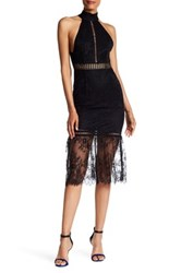 Abs By Allen Schwartz Victorian Lace Midi Dress Black