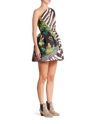 Marc Jacobs Zebra Party Dress Black Multi