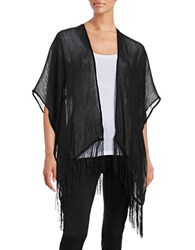 Bcbgeneration Long Kimono Shrug Black