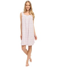 Eileen West Group Short Chemise Pink Ground Tiny Hearts Women's Pajama Gray