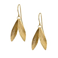 Catherine Zoraida Double Leaf Earring Gold