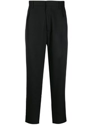 Just Cavalli Tapered High Waisted Trousers Black