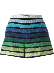 Sonia Rykiel Striped Loop Knit Shorts Multicolour