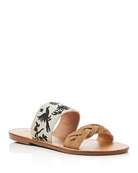 Soludos Otomi Braided And Embroidered Flat Sandals Sand Black