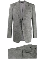 Tom Ford Herringbone Woven Blazer Grey