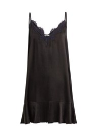 Icons Lace Trimmed Camisole Dress Black