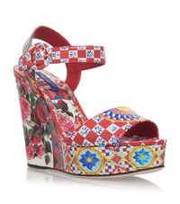 Dolce And Gabbana Bianca Carret Wedges Female Red