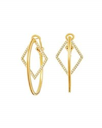 Ivanka Trump Affinity Oval And Diamond Hoop Earrings